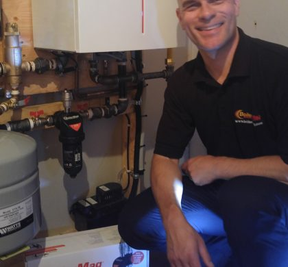 ETNA Magnetics Sales Director supports BoilerMag by installing one in his own home