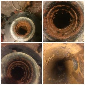 contaminated boiler